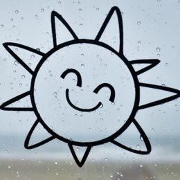 kreslené usměvavé slunce - 4 kroky k moudrosti