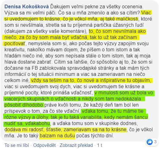 Názor navýzvu Nacházení radosti Dani nachazeni.cz