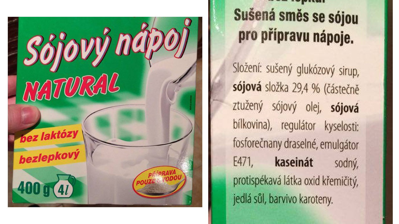 Co dělá v rostlinném nápoji kaseinát sodný a další?