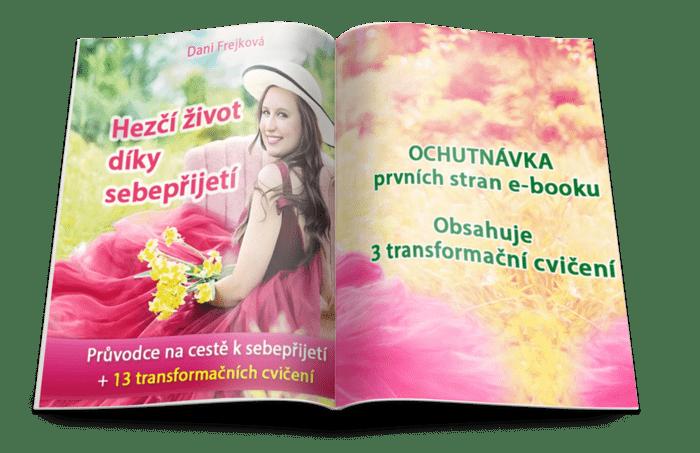 Ochutnávka e-booku Hezčí život díky sebepřijetí - otevřená knížka