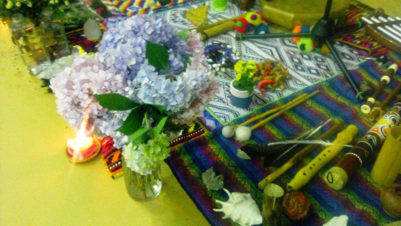 Některé předměty pro rituál hojnosti Dona Sergia